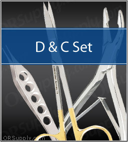 D&C Surgical Instrument Set