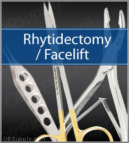 Rhytidectomy Instrument Set