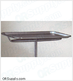 Clinton Stainless Steel Replacement Tray for Mobile Instrument and Mayo Stands
