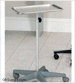 Clinton Nylon Base Mobile Instrument Stand with Stainless Steel Tray