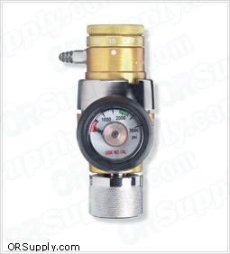 Compact Click-Style Oxygen Regulators w/CGA-540 Nut and Nipple