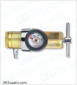 Compact Click-Style Oxygen Regulator w/CGA 870 Yoke Inlet