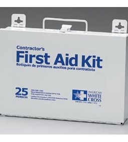 FIRST AID ONLY 25 PERSON FIRST AID KIT - METAL