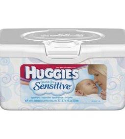 KIMBERLY-CLARK HUGGIES® GENTLE CARE SENSITIVE BABY WIPES