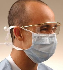 CROSSTEX SURGICAL MASK WITH TIE-ON LACES