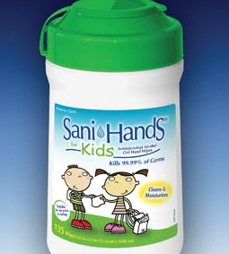 CROSSTEX SANI HANDS ANTIMICROBIAL WIPES FOR KIDS