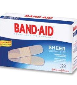 J&J BAND-AID® SHEER STRIPS & SPOTS